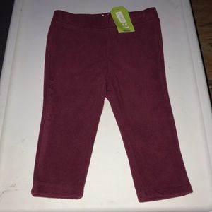 Crazy 8 soft baby burgundy pants